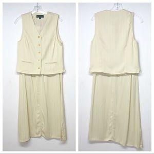 Vintage Bushwacker Yellow Skirt and Vest Suit Set